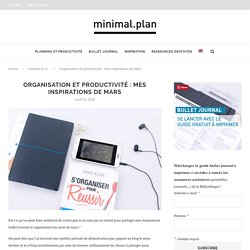 Inspiration : bullet journal + Getting Things Done - Minimal.Plan