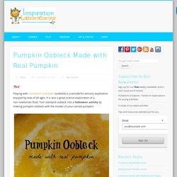 Pumpkin Oobleck Made with Real Pumpkin