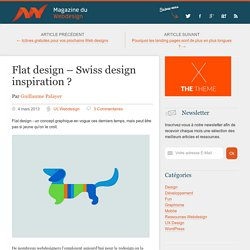 Flat design - Swiss design inspiration ?