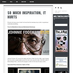 So Much Inspiration, It Hurts - MultimediaShooter