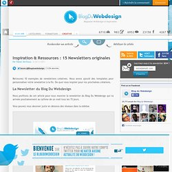 Inspiration & Ressources : 15 Newsletters originales