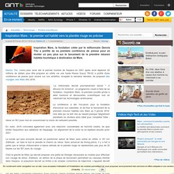 Inspiration Mars : le premier vol habité vers la planète rouge se précise