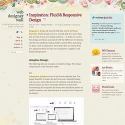Inspiration: Fluid & Responsive Design
