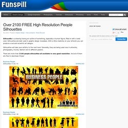 Over 2100 FREE High Resolution People Silhouettes | Web Resources, Design Inspiration, and Fun Spill!