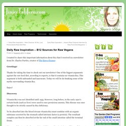 Daily Raw Inspiration – B12 Sources for Raw Vegans