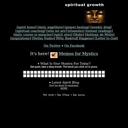 DAILY INSPIRATION on Spiritual Growth - StumbleUpon