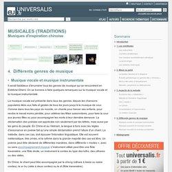 Musiques d'inspiration chinoise - TRADITIONS MUSICALES, Différents genres de musique