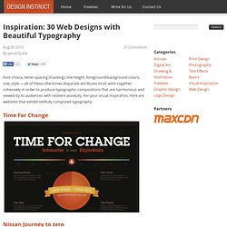 Inspiration: 30 Web Designs with Beautiful Typography
