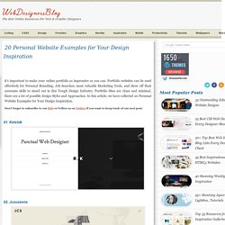 20 Personal Website Examples for Your Design Inspiration