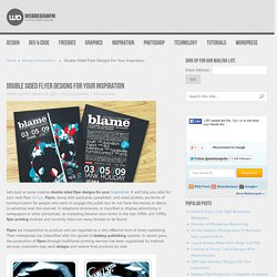 Double Sided Flyer Designs For Your Inspiration