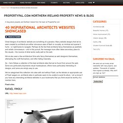 40 inspirational architects websites showcased