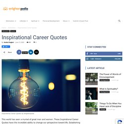 Best Inspirational Career Quotes