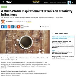 4 Must-Watch Inspirational TED Talks on Creativity in Business