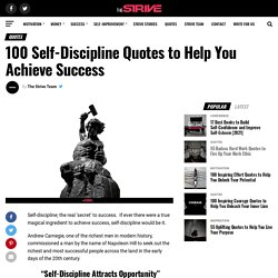 100 Inspirational Quotes on Self-Discipline