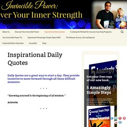 Inspirational Daily Quotes - Words of Encouragement to Lift Your Spirits