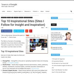 Top 10 Inspirational Sites (Sites I Follow for Insight and Inspiration)
