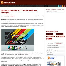 90 Inspirational And Creative Portfolio Designs