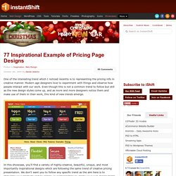 77 Inspirational Example of Pricing Page Designs