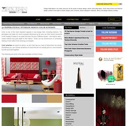 30 inspirational Interior design color schemes