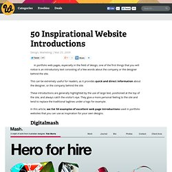50 Inspirational Website Introductions