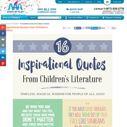 16 Inspirational Quotes from Children's Literature