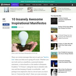 10 Insanely Awesome Inspirational Manifestos