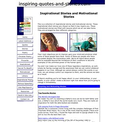 Inspirational Stories and Motivational Stories