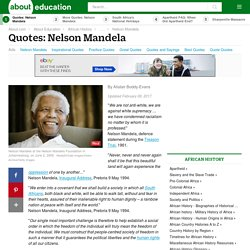 Inspirational Nelson Mandela Quotes