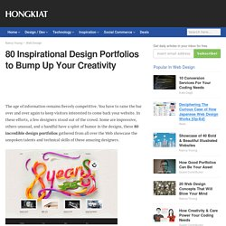 80 Inspirational Design Portfolios to Bump Up Your Creativity