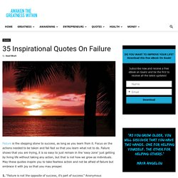 35 Inspirational Quotes On Failure