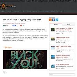 45+ Inspirational Typography showcase