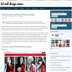 Inspirational Grid Based Website Design