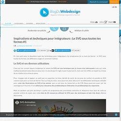 Inspirations et techniques pour intégrateurs : Le SVG sous toutes tes formes #1