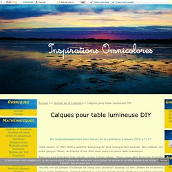 Calques pour table lumineuse DIY - Inspirations-Omnicolores
