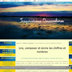 Lire, composer et écrire les chiffres et nombres - Inspirations-Omnicolores