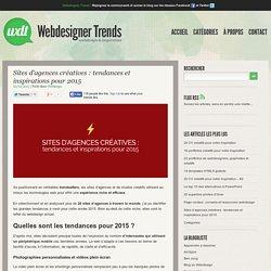Sites d'agences créatives : tendances et inspirations pour 2015
