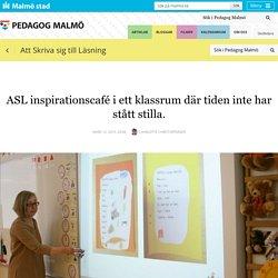 ASL inspirationscafé i ett klassrum där tiden inte har stått stilla.