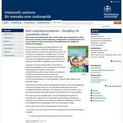 Nytt inspirationsmaterial - Skolgång för nyanlända elever