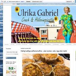 Ulrika Gabriel Inspiratör: Härligt saftiga saffransmuffins - utan socker, vete, ägg eller mjölk