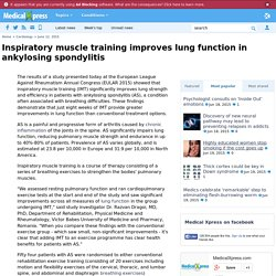 Inspiratory muscle training improves lung function in ankylosing spondylitis