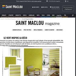 Le vert inspire la déco « Blog Déco Saint Maclou