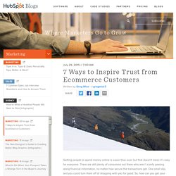 7 Ways to Inspire Trust from Ecommerce Customers