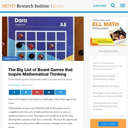 The Big List of Board Games that Inspire Mathematical Thinking