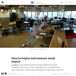 How to inspire and measure social impact — StartupDorf on Tour