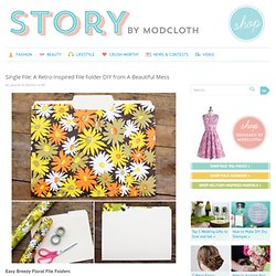 Single File: A Retro-Inspired File Folder DIY from A Beautiful Mess