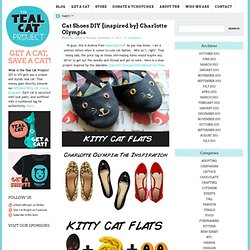Cat Shoes DIY {inspired by} Charlotte Olympia : Teal Cat Project