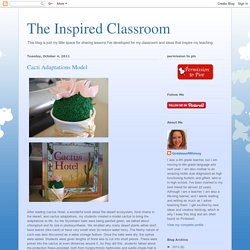 The Inspired Classroom: Cacti Adaptations Model