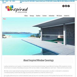 Inspired Window Coverings Sydney and Melbourne