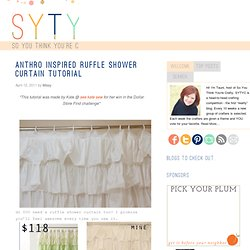 Anthro Inspired Ruffle Shower Curtain Tutorial