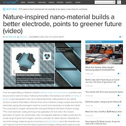 nano-material builds a better electrode,